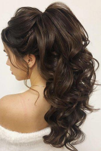 72 Best Wedding Hairstyles For Long Hair 2019 | Wedding Forward In Long Hairstyles Pulled Up (View 10 of 25)