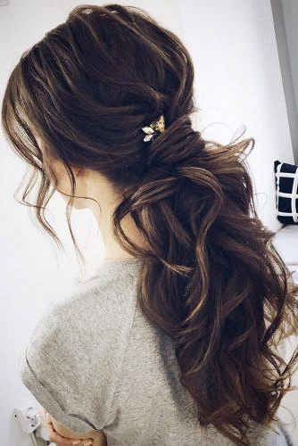 72 Best Wedding Hairstyles For Long Hair 2019 | Wedding Forward intended for Long Hairstyles Bridesmaid