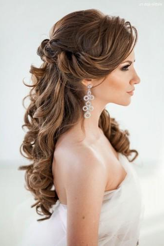 72 Best Wedding Hairstyles For Long Hair 2019 | Wedding Forward With Regard To Long Hairstyles Down For Wedding (View 11 of 25)