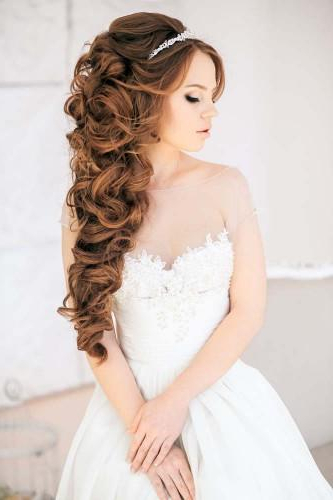 72 Best Wedding Hairstyles For Long Hair 2019 | Wedding Forward With Regard To Long Hairstyles For Wedding Party (View 11 of 25)