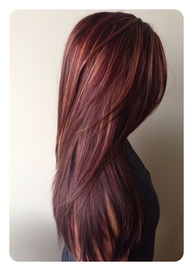 72 Stunning Red Hair Color Ideas With Highlights In Long Hairstyles Red Highlights (View 18 of 25)