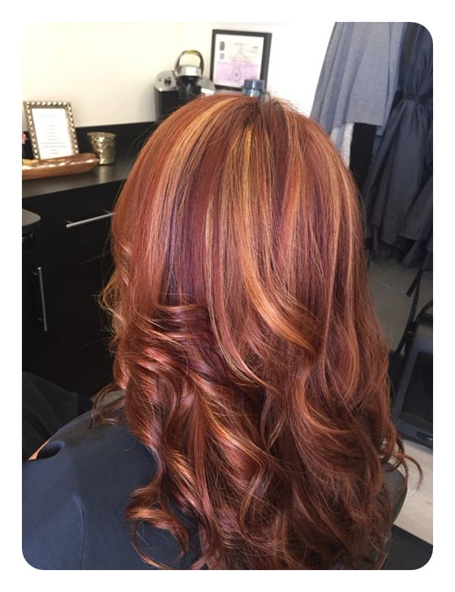72 Stunning Red Hair Color Ideas With Highlights Throughout Long Hairstyles Red Highlights (View 16 of 25)