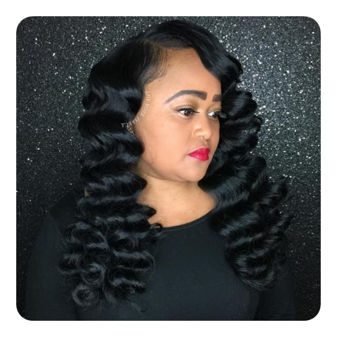 74 Outstanding Finger Waves Hairstyle Mostly Preferred throughout Wavy Long Weave Hairstyles
