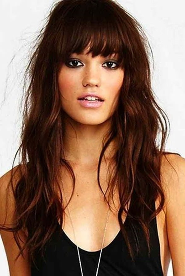 77 Fabulous Hairstyles With Bangs For 2019 – Style Easily For Bangs Long Hairstyles (View 7 of 25)