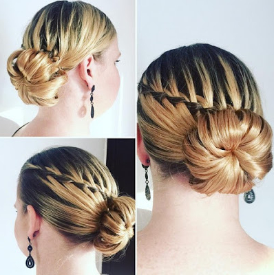 79 Stunning Waterfall Braids Hairstyles For Women To Wear | Hairstylo Throughout Chic Waterfall Braid Prom Updos (View 17 of 25)