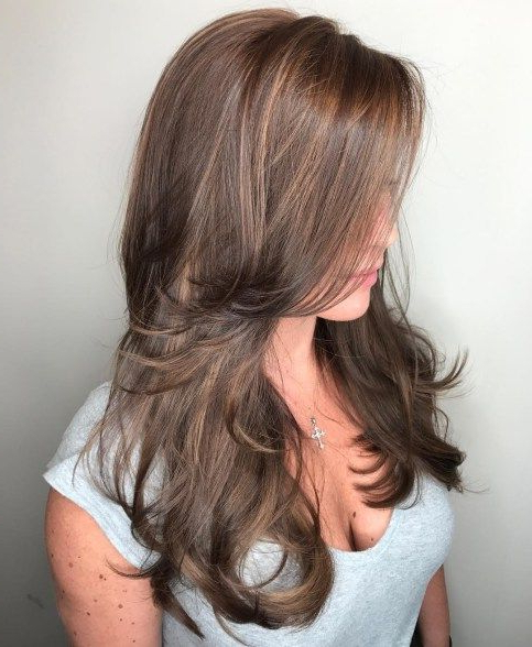 80 Cute Layered Hairstyles And Cuts For Long Hair | Hair On Fleek for Long Layered Light Chocolate Brown Haircuts
