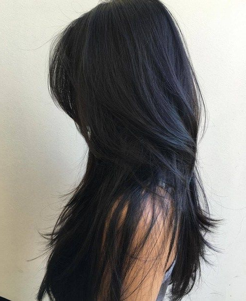 80 Cute Layered Hairstyles And Cuts For Long Hair | Hair Styles With Black Long Hairstyles With Bangs And Layers (View 3 of 25)