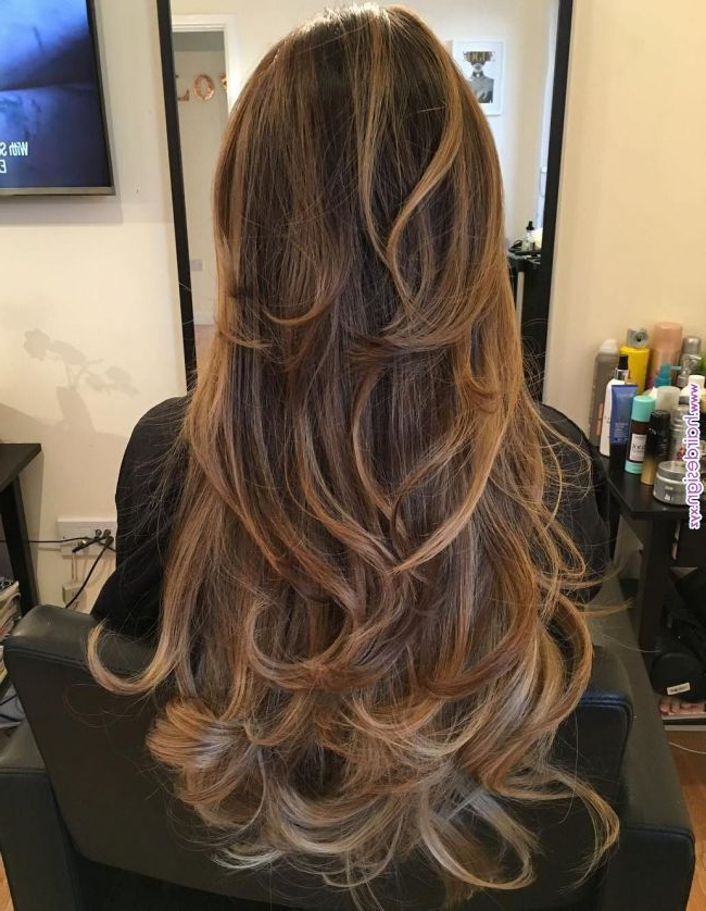 80 Cute Layered Hairstyles And Cuts For Long Hair | Hairstyles, Hair With Regard To Long Texture Revealing Layers Hairstyles (View 3 of 25)
