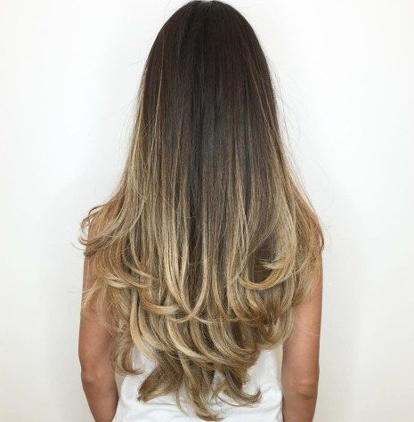 80 Cute Layered Hairstyles And Cuts For Long Hair | Hairstyles inside Long Dark Hairstyles With Blonde Contour Balayage