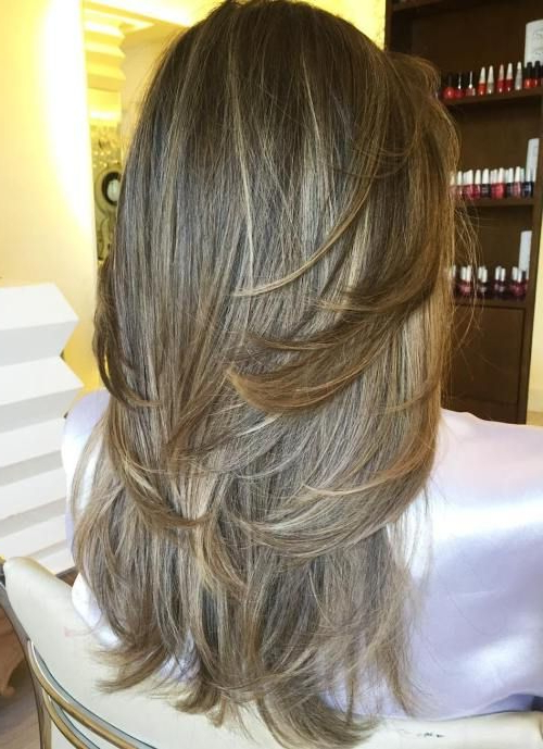 Featured Photo of Heavily Layered Face Framing Strands Long Hairstyles