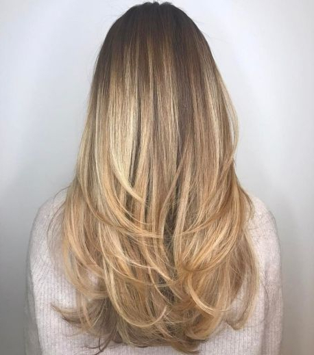 80 Cute Layered Hairstyles And Cuts For Long Hair In 2019 | Hair pertaining to Long Hairstyles With Angled Swoopy Pieces
