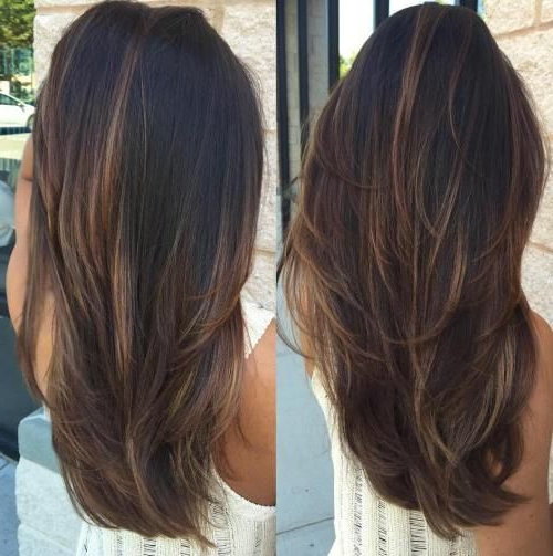 Featured Photo of Light Layers Hairstyles Enhanced By Color