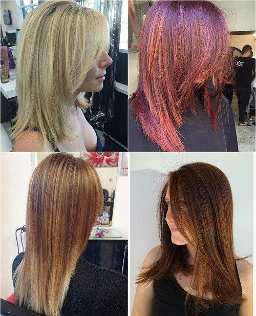 80 Sensational Medium Length Haircuts For Thick Hair | Girliness Throughout Mid Back Brown U Shaped Haircuts With Swoopy Layers (View 22 of 25)