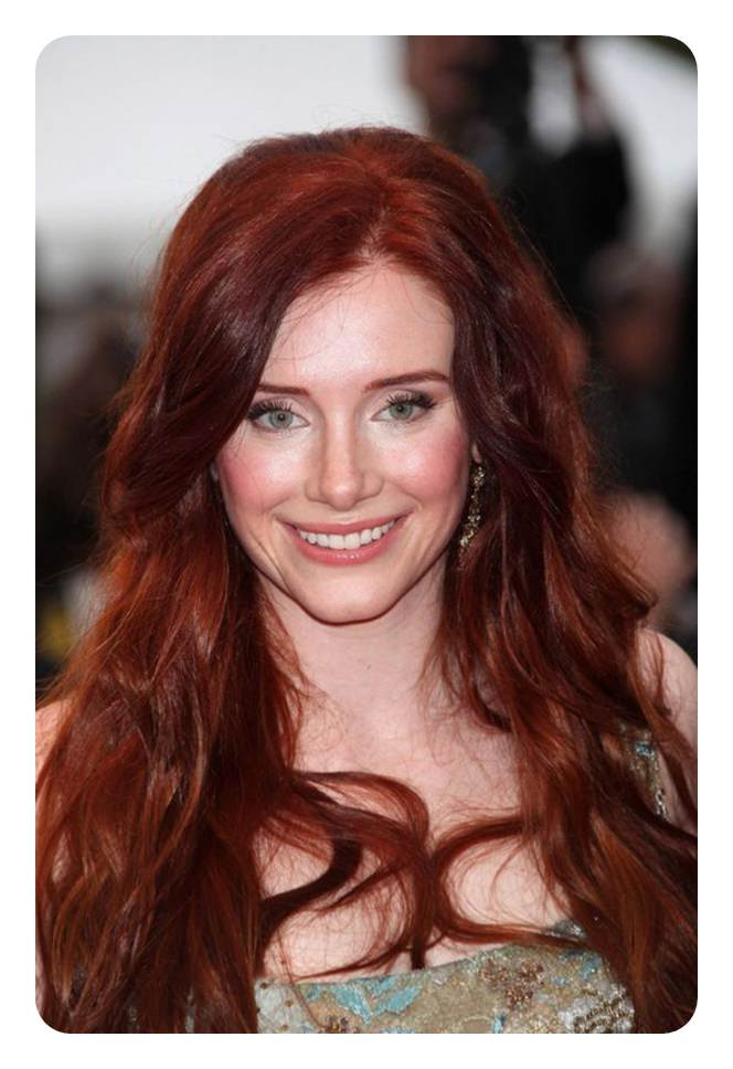 80 Stunning Red Hair With Highlights You Can Try Now With Long Hairstyles Natural (View 15 of 25)