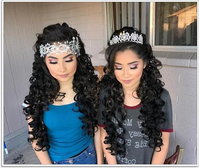 82 Elegant Quinceanera Hairstyles For 2019 in Long Curly Quinceanera Hairstyles