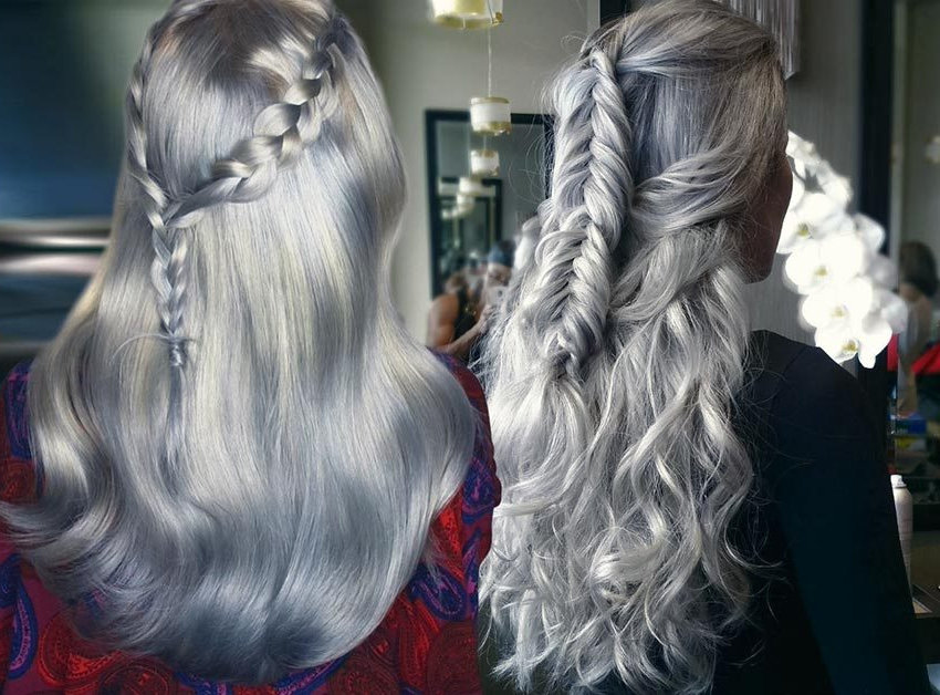85 Silver Hair Color Ideas And Tips For Dyeing, Maintaining Your intended for Long Hairstyles For Gray Hair