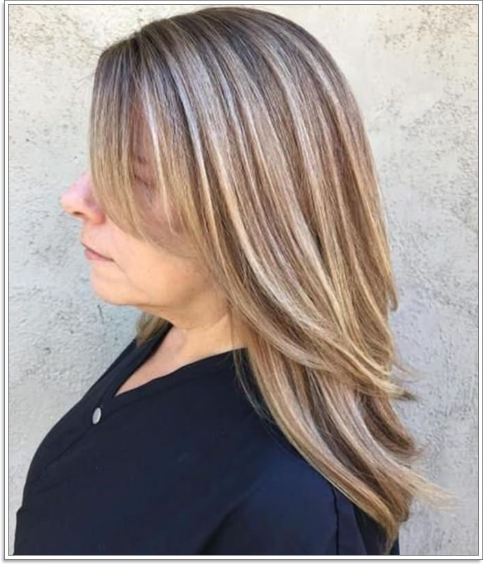 87 Lovely Hairstyles For Women Over 40 Pertaining To Loose Layers Hairstyles With Silver Highlights (View 20 of 25)