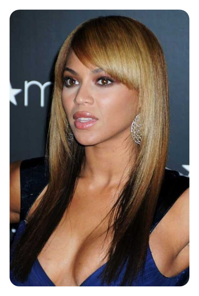 88 Beautiful And Flattering Haircuts For Oval Faces In Long Hairstyles With Bangs For Oval Faces (View 21 of 25)