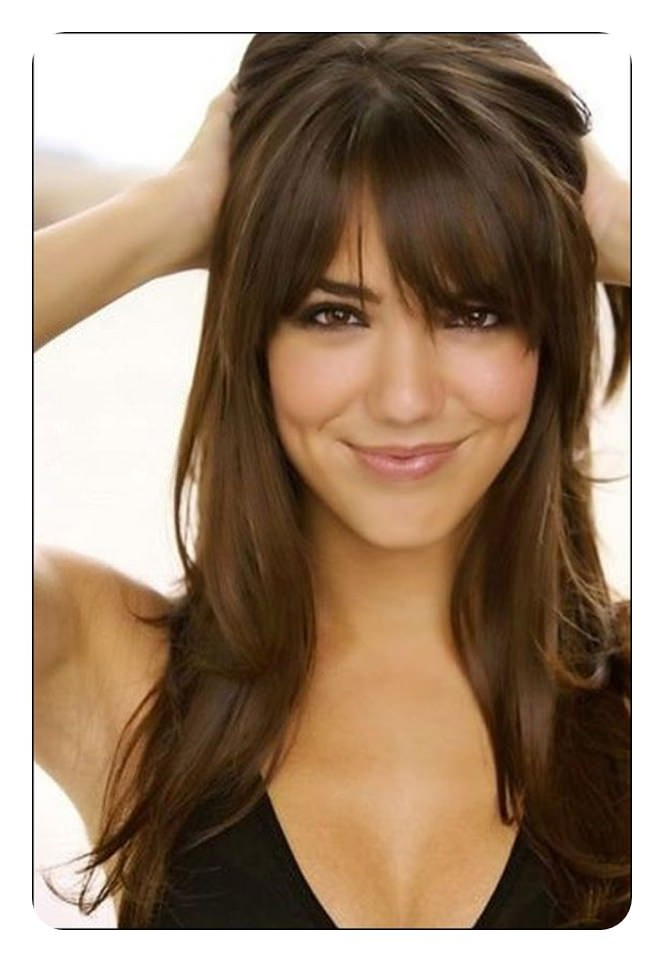 88 Beautiful And Flattering Haircuts For Oval Faces with regard to Long Haircuts With Bangs For Oval Faces
