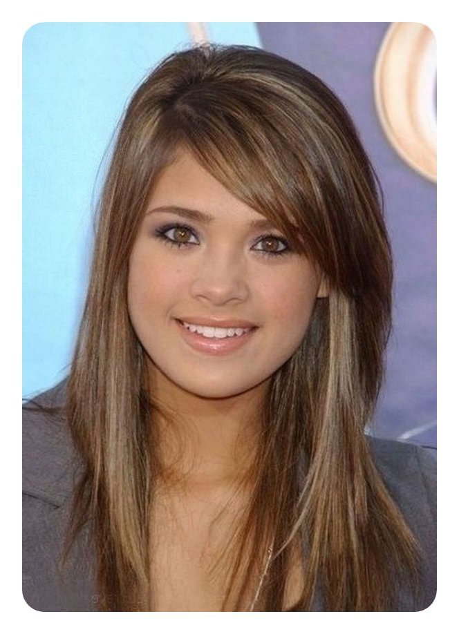 88 Beautiful And Flattering Haircuts For Oval Faces Within Long Haircuts With Bangs For Oval Faces (View 17 of 25)