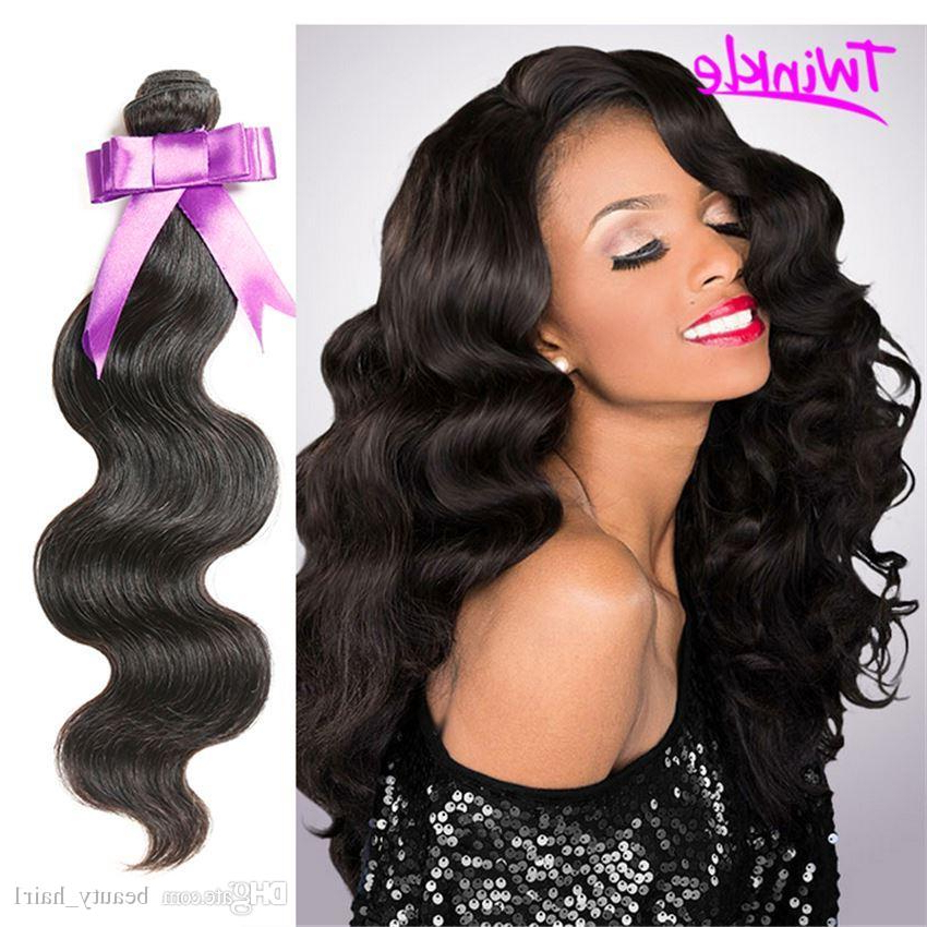 8A Indian Virgin Body Wave Unprocessed Virgin Indian Remy Wavy Hair Inside Wavy Long Weave Hairstyles (View 14 of 25)