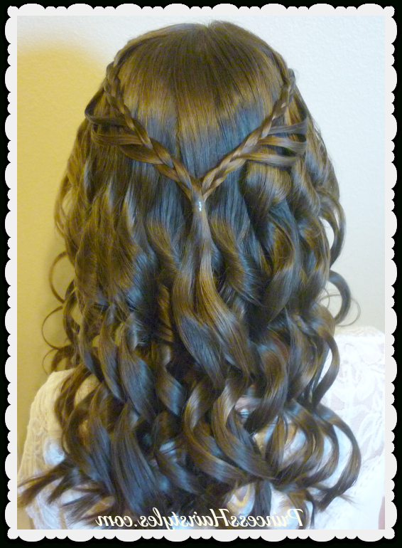 8Th Grade Dance Hairstyle Tutorial And Dress! Princess Hairstyles For 8Th Grade Graduation Hairstyles For Long Hair (View 11 of 25)