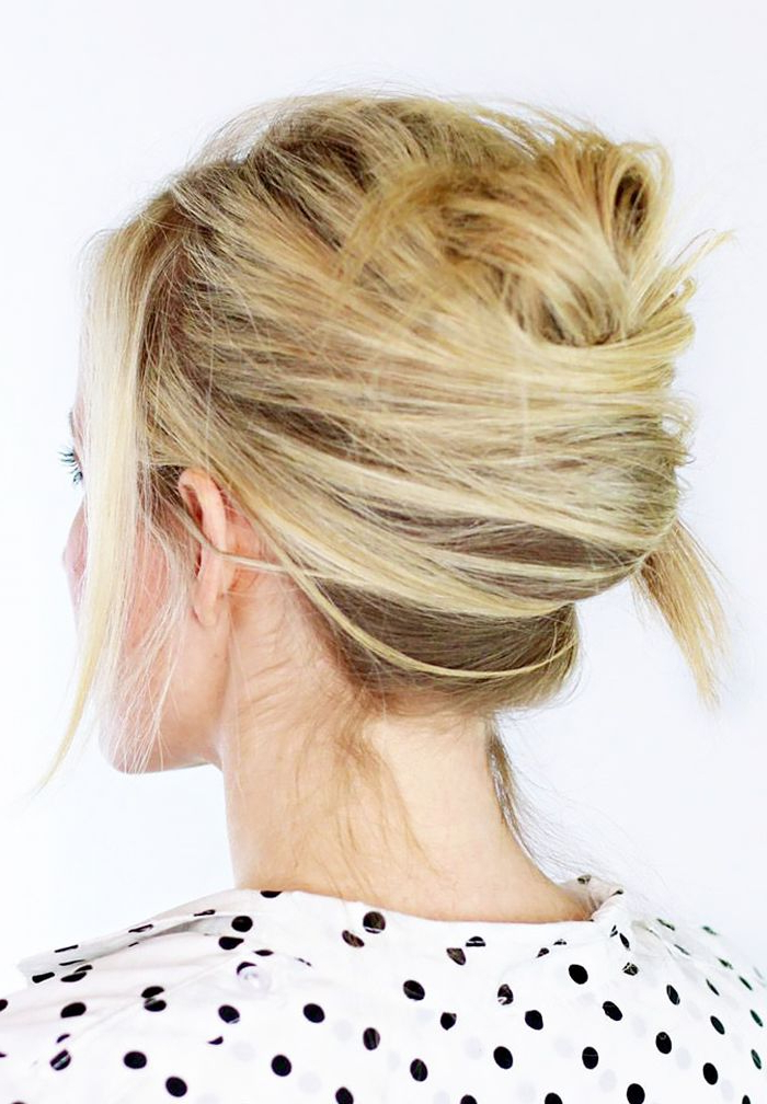 9 Easy Hairstyles For When Your Hair Is 90% Dry Shampoo | Hair With Long Hairstyles Updos Casual (View 23 of 25)
