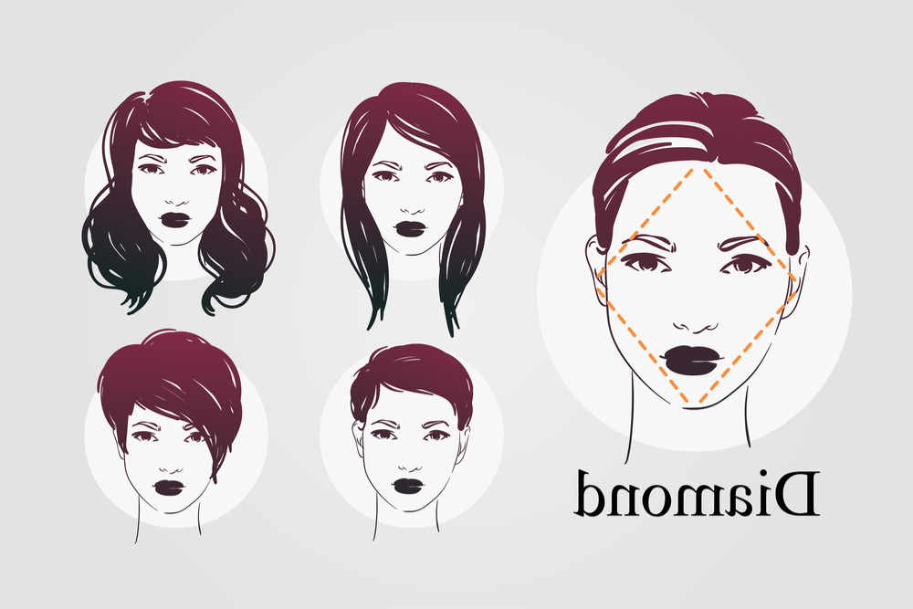 9 Face Shapes For Women And Best Hairstyles For Each Intended For Long Hairstyles Diamond Shaped Faces (View 16 of 25)