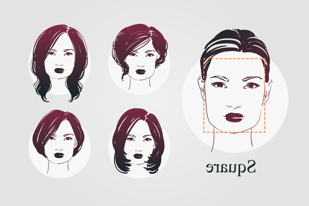 9 Face Shapes For Women And Best Hairstyles For Each Within Square Face Long Hairstyles (View 15 of 25)