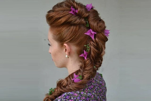 9 Prom Updos For Long Hair   Womensok With Regard To Floral Braid Crowns Hairstyles For Prom (View 20 of 25)