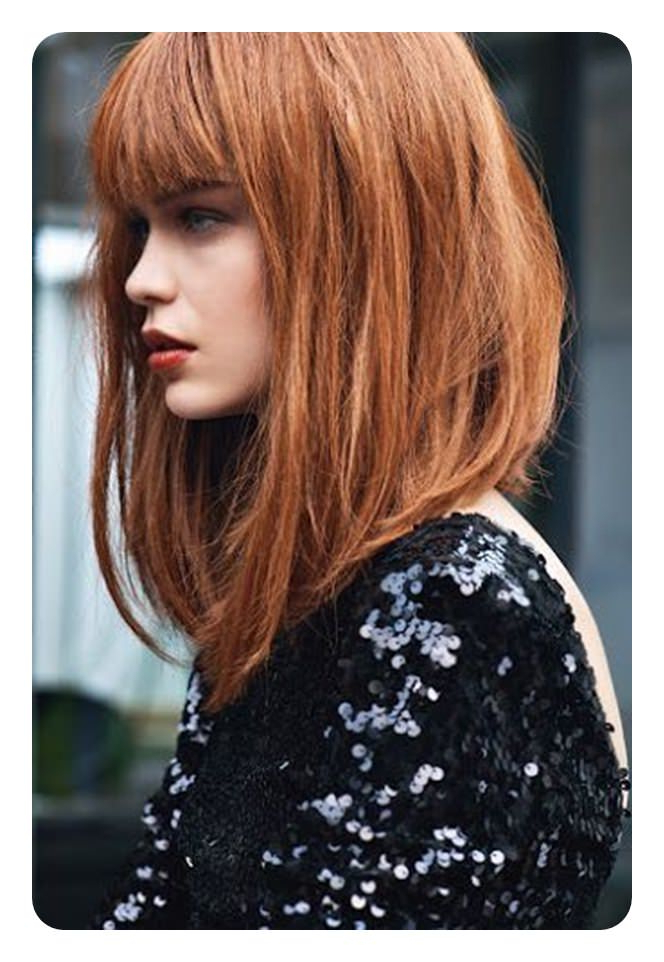 92 Layered Inverted Bob Hairstyles That You Should Try – Style Easily Throughout Long Bob Hairstyles With Bangs (View 18 of 25)