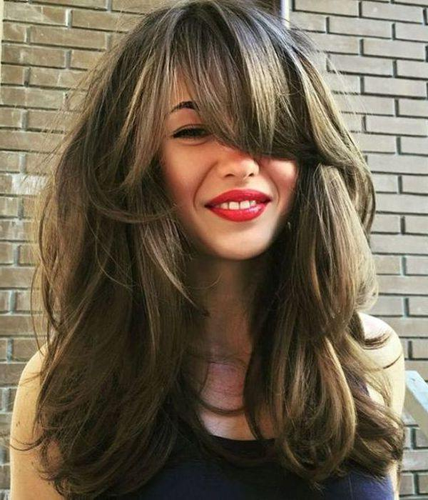 94 Layered Hairstyles And Haircuts For Every Hair Type Regarding Long Haircuts Layers And Bangs (View 23 of 25)