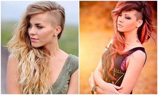 95 Bold Shaved Hairstyles For Women Pertaining To Long Haircuts With Shaved Side (View 13 of 25)