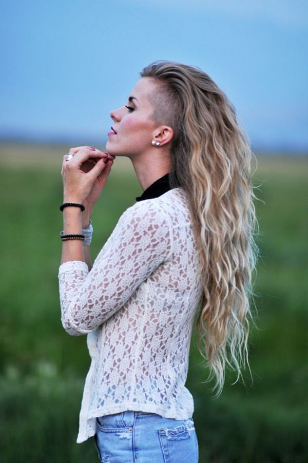 95 Bold Shaved Hairstyles For Women With Regard To Hairstyles For Long Hair Shaved Side (View 25 of 25)