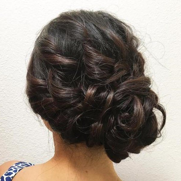 98 Gorgeous Side Bun Hairstyles To Fall In Love With With Regard To Side Bun Prom Hairstyles With Soft Curls (View 15 of 25)