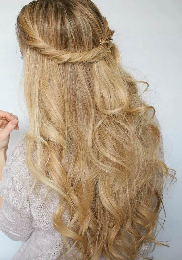 99 Most Fashionable Prom Hairstyles This Year Intended For Side Swept Brunette Waves Hairstyles For Prom (View 10 of 25)