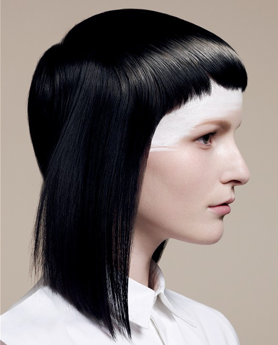 A Medium Black Hairstyle From The British Hairdressing Awards Within Vidal Sassoon Long Hairstyles (View 5 of 25)