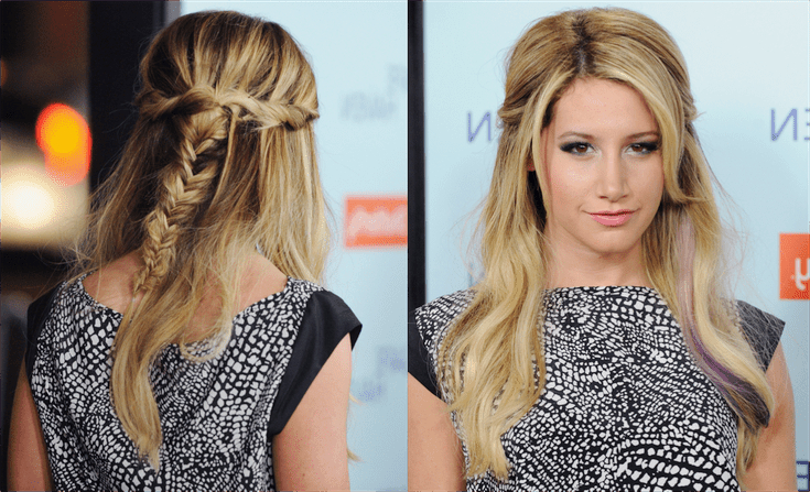 A Slideshow Of Pinned Back Hairstyles For Prom Intended For Long Hairstyles Pinned Back (View 7 of 25)