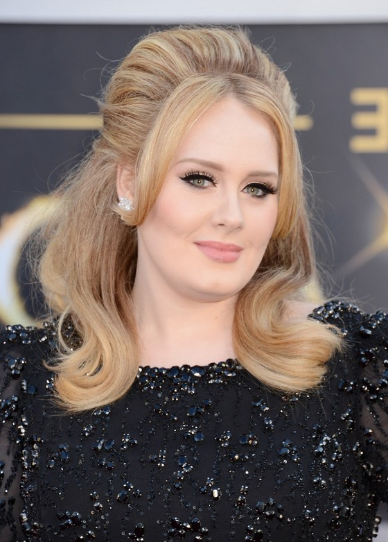 Adele Hair Style: Classic Beauty On The Red Carpet – Popular Haircuts Pertaining To Long Hairstyles Red Carpet (View 12 of 25)