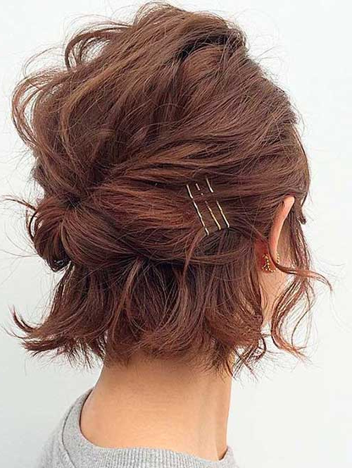 Adorable Short Hairstyles With Bobby Pins Pertaining To Long Hairstyles With Bobby Pins (View 21 of 25)