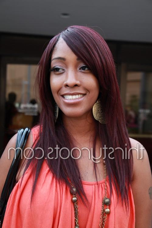African American Long Hair Styles Pertaining To Long Hairstyles African American (View 10 of 25)