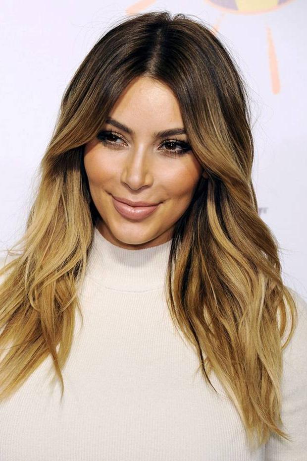 After Kim's Hipster Hairstyle, Are We Now Seeing Peak Dip Dye Regarding Long Hairstyles Dip Dye (View 4 of 25)