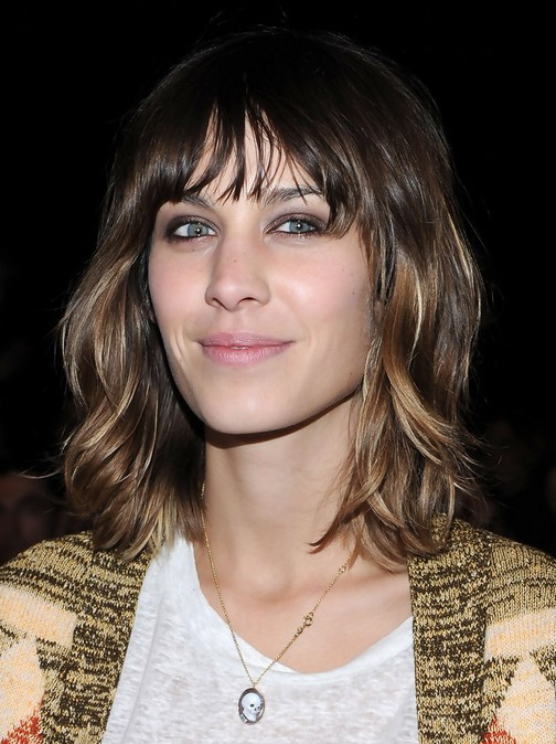 Alexa Chung Hair Cuts: Layered Neck Length Hairstyle – Popular Haircuts Pertaining To Neck Long Hairstyles (View 15 of 25)