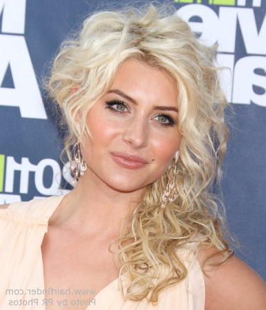 Aly Michalka With Her Hair Up So That It Appears Short On One Side Intended For One Side Short One Side Long Hairstyles (View 15 of 25)