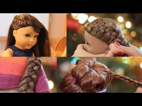 American Girl Doll Holiday Hairstyles! ? 2016 – Youtube In Cute Hairstyles For American Girl Dolls With Long Hair (View 20 of 25)