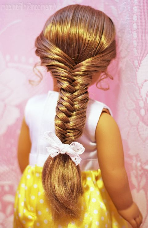 American Girl Hairstyle Fishtail Braid 2 | Doll Stuff | American Pertaining To Cute Hairstyles For American Girl Dolls With Long Hair (View 2 of 25)