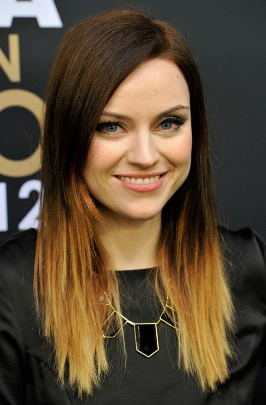 Amy Macdonald Trendy Dip Dye Ombre Hair – Popular Haircuts Within Long Hairstyles Dip Dye (View 17 of 25)