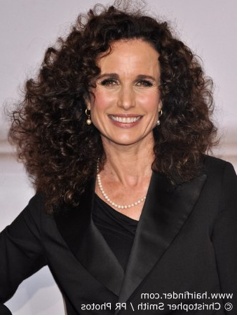 Andie Macdowell | Long Hairstyle For Naturally Curly Hair Regarding Long Hairstyles For Naturally Curly Hair (View 25 of 25)