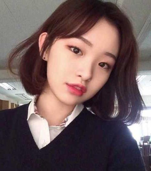 Asian Women's Wonderful Bob Hair Models | Bob Hairstyles 2018 Intended For Long Bob Hairstyles Korean (View 13 of 25)