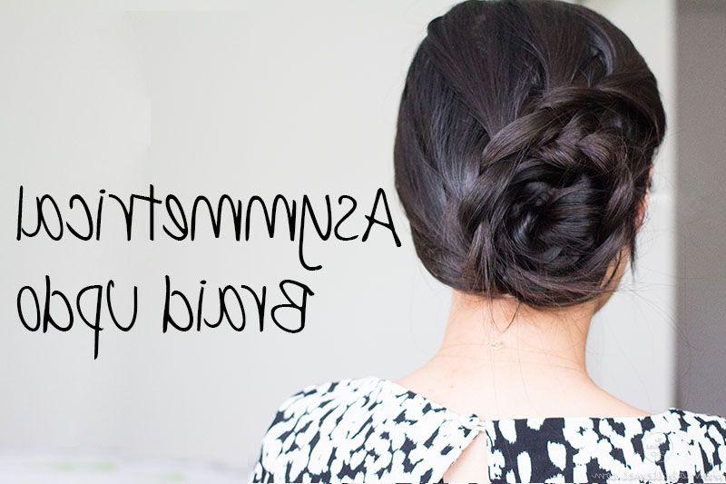 Asymmetrical Lace Braid #updo #tutorial | Youtube Tutorials For Asymmetrical Knotted Prom Updos (View 15 of 25)